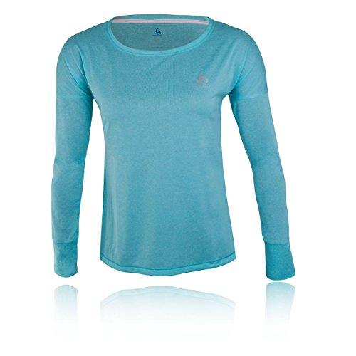 Odlo T-Shirt de TEBE à Manches Longues pour Femme XS, S, M, L, XL Blue Radiance Melange