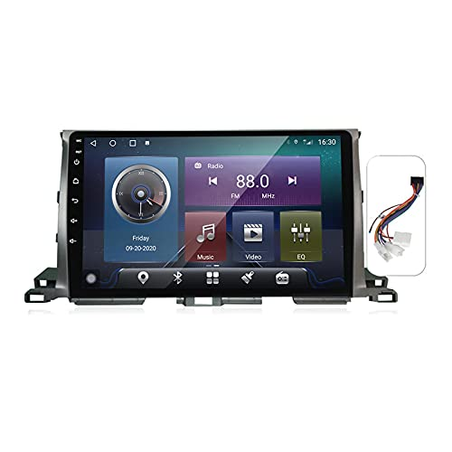 Gokiu Android 10 Car Stereo 2 DIN Head Unit para Toyota Highlander 3 XU50 2013-2018 Navegación GPS Pantalla de 9 Pulgadas con 4G 5G WiFi DSP FM Am RDS Radio Reproductor Multimedia Carplay,Plug a,M600