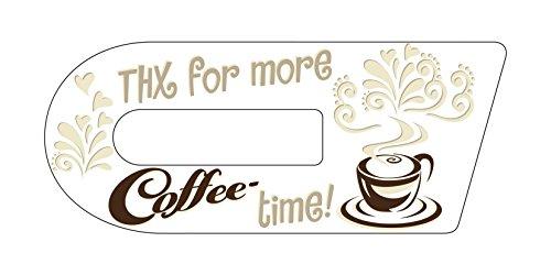 Aufkleber für Cook-Key®   Selbstklebender Sticker exakt passend für Thermomix TM5 Cook-Key   Motiv: Coffee-Time