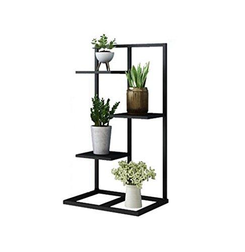 HYXI-Étagère pour plantes Support de fleur de fer à plusieurs niveaux pour balcon de salon et étagère de coin intérieure/extérieure Présentoir de pot de fleurs en métal Support à fleur