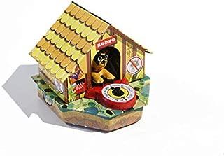 Habitat Union Tin Collectible Dog House Coin Bank - Zorro, Dog Stealing Money / Nostalgia Item from Tin Treasures