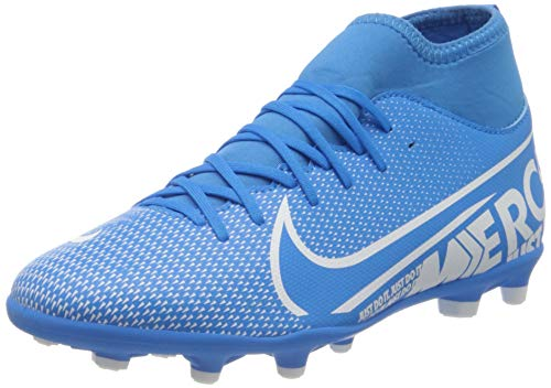 Nike Jr Superfly 7 Club Fg/MG, Scarpe da Calcio Unisex-Bambini, Multicolore (Blue Hero/White/Obsidian 414), 37.5 EU