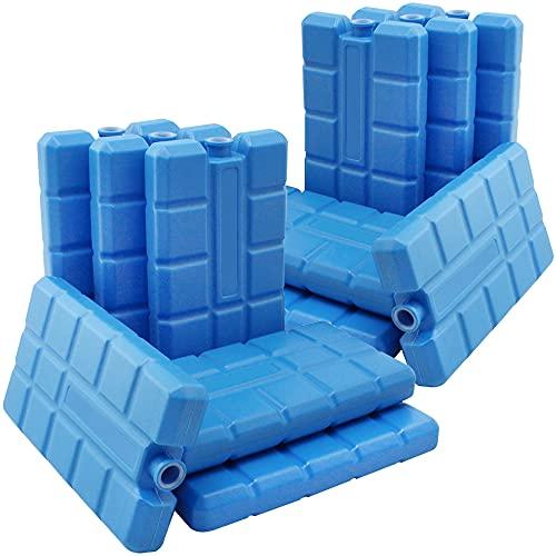 COM-FOUR® 12x cold pack in blauw - koelelementen voor koelbox en koeltas - coldpacks voor huishoudens en vrije tijd