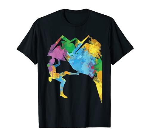Felsklettern, Retro Bouldern Kletterer T-Shirt