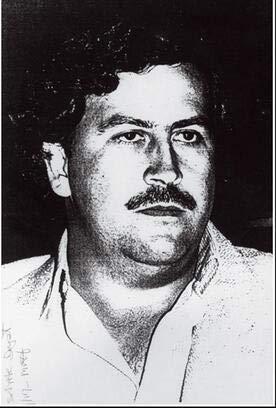 wtnhz Sin Marco Più Stile Pablo Escobar Personaggio Leggenda Decorazioni per pareti retrò in Seta con Stampa artistica Vintage 60x90cm