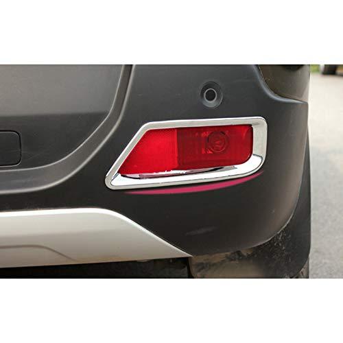 vitesurz para Peugeot 308, ABS Cromado Trasero Luces antiniebla Cubierta de lámpara Adornos Protector 2 uds