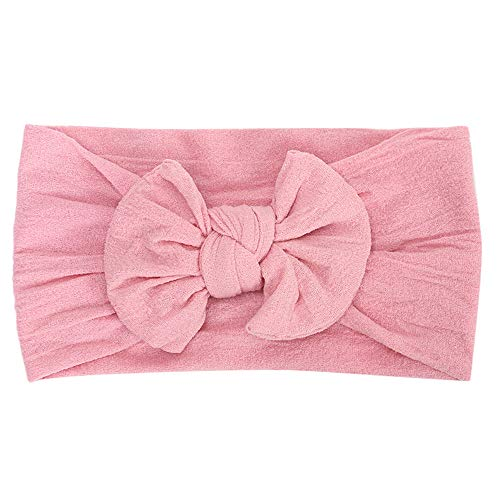 Huhu833 Baby Stirnbänder, Cute Baby Kleinkind Infant Circle Stirnband Stretch Haarband Headwear (Rosa)