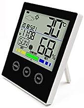 KUNSE Ch-909 LCD Electrónico Termómetro De Pantalla Digital Higrómetro-Blanco Negro