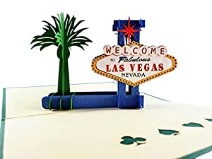 iGifts And Cards Las Vegas 3D Pop Up Greeting Card - Lady Luck, Gambling, Money, Fun, Iconic, Half-Fold, Special Occasion, Thank You, Mother's & Father's Day, Just Because, Wedding, Happy Birthday from Phung