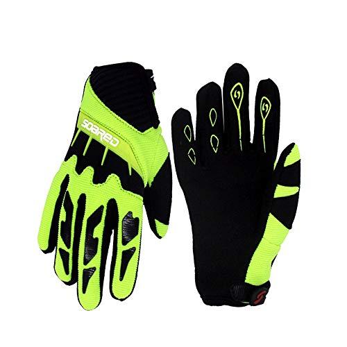 Cycling Gloves for Kids Skateboard Gloves Boys Girls Roller Skating Gloves Full Finger (Green, XXS)