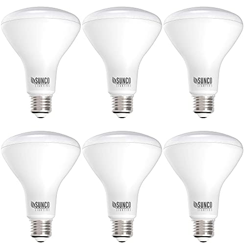Sunco Lighting 6 Pack BR30 LED Bulb 11W=65W, 4000K Cool White, 850 LM, E26 Base, Dimmable, 25,000 Lifetime Hours, Indoor Flood Light for Cans - UL & Energy Star