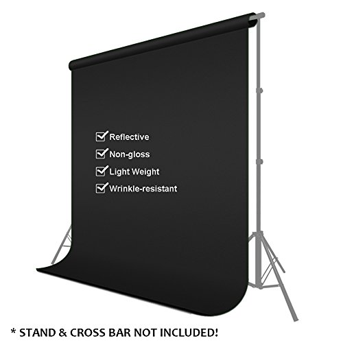 Julius Studio 6 ft X 9 ft Black Chromakey Photo Video Photography Studio Fabric Backdrop Background Screen, JSAG102