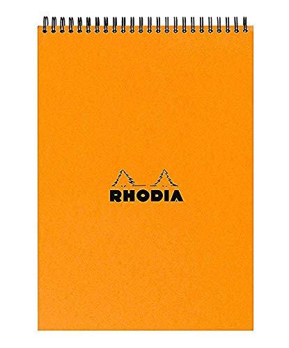 Orange Rhodia Notepad 8.25X11.75 Double Spiral Graph 5x5 Grid