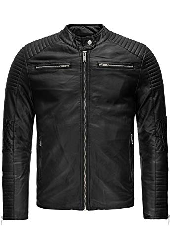 Redbridge Herren Kunst-Lederjacke Brooklyn Slim Fit