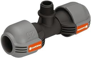 Gardena Quick&Easy 2786-20 - Unión de T del sistema de aspersión para rosca macho: pieza de conexión para conectar el aspersor emergente en el tubo, 25mm y rosca macho 1/2