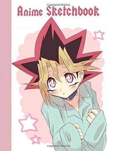 Anime Sketchbook: 100 Blank Pages, 8.5 x 11, Sketch Pad for Drawing Anime Manga Comics, Yu Gi Oh! theme