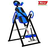 Norcia Folding Teeter Inversion Table, Adjustable Heavy Duty Back Stretcher Chair with Lumbar Cushion, Relieve Back Pain/Reduce Muscle Tension-for Fitness Exercise Adjust Your Body (Blue)