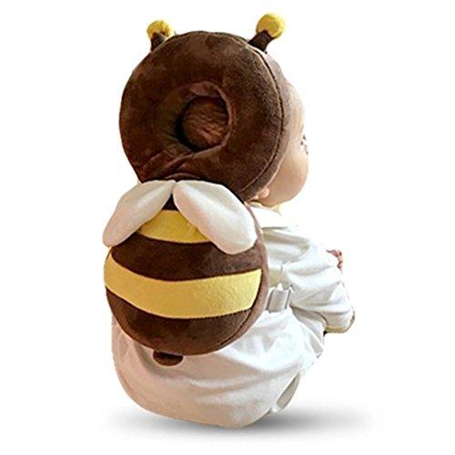 LAAT - Cojín de protección ajustable para bebé, protección de la cabeza, cuello y columna, diseño de alas de ángel, Coloré L, L