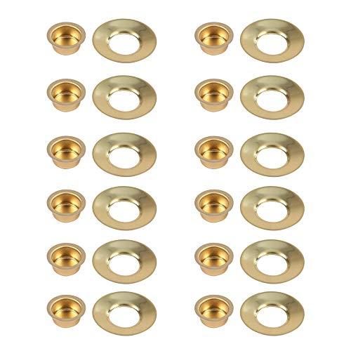 Kerzeneinsatz aus Metall mit passendem Tropfenfänger für Wachs, Durchmesser ca. 17 mm, Kerzentülle mit Tropfschale Kerzenhalter für Baumkerzen, Puppenkerzen, Pyramidenkerzen und Tafelkerzen, 12er-Set