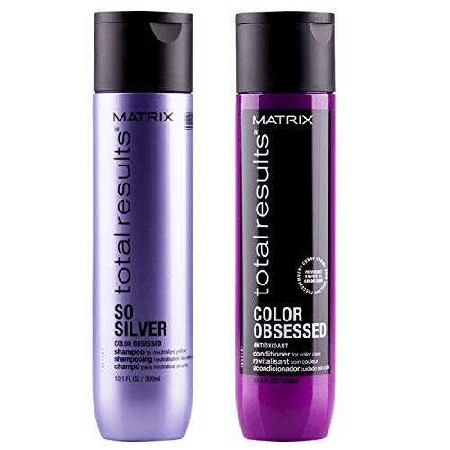 Matrix Shampoo, So Silver - 300 ml, und Color Obsessed Conditioner - 300 ml, Doppelpack