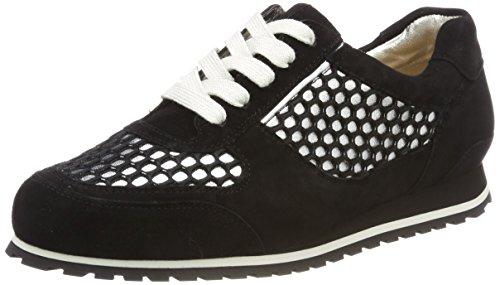 Hassia Piacenza, Weite G Damen Sneaker, Schwarz (Schwarz/Silber), 41 EU (7.5 UK)