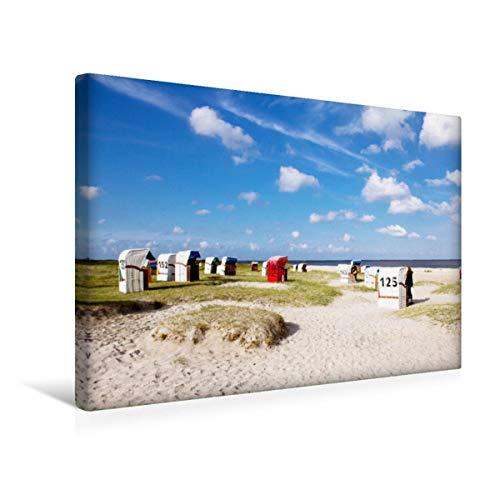 Premium Textil-Leinwand 45 x 30 cm Quer-Format Strand von Schillig | Wandbild, HD-Bild auf Keilrahmen, Fertigbild auf hochwertigem Vlies, Leinwanddruck von Andrea Dreegmeyer