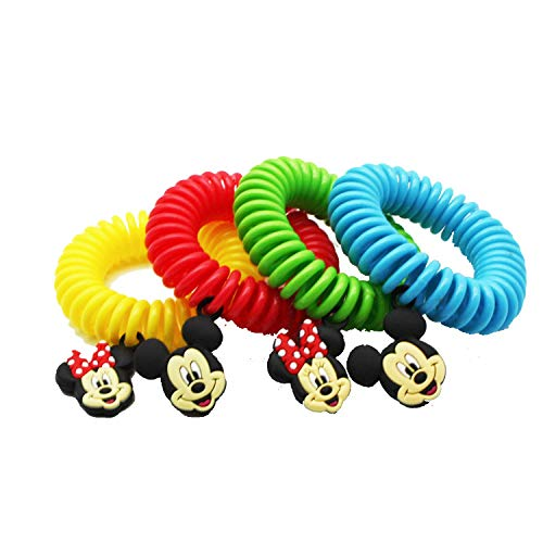 Superband Classic Disney (Pack of 25) All Natural Insect & Mosquito Repelling Wristband with Mickey and Minnie Mouse Charms - Made with Natural Plant Based Oils (25)