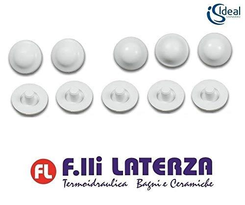 KIT 6+4 pz. PARACOLPI GOMMINI COPRIWATER IDEAL STANDARD ORIGINALI art. T203500