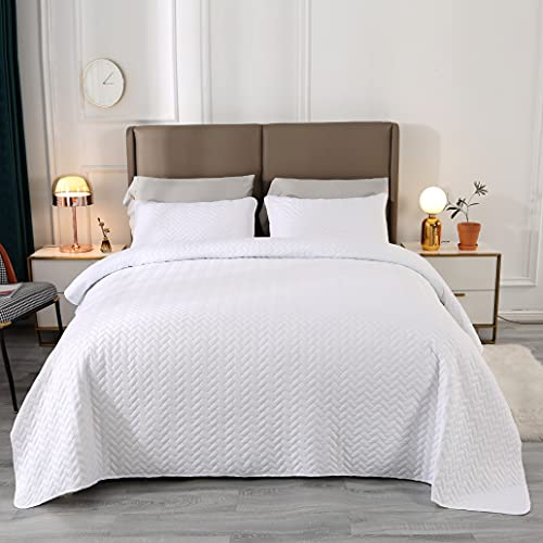 VINILITE Colcha Multiusos 170 x 210 cm Cubrecama de Poliéster Manta para Dormitorio Hotel con 2 Fundas de Almohada