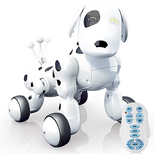 WISHTIME Remote Control Dog Robot Toy Robotic Dog for Kids Buddy Interactive Dog, Can Sing ,Dance and has Remote Control Movement, Eyes with LED, Electronic Pet With USB Charger, for Kids