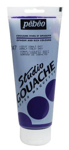 Pébéo Peinture Gouache 1 Tube de 220 ml Violet Cobalt