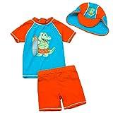 Baby Jungen Zwei Stücke Kurzarm Dinosaurier Badebekleidung Sonnenschutz UPF50 + Rash Guard Badeanzüge 4
