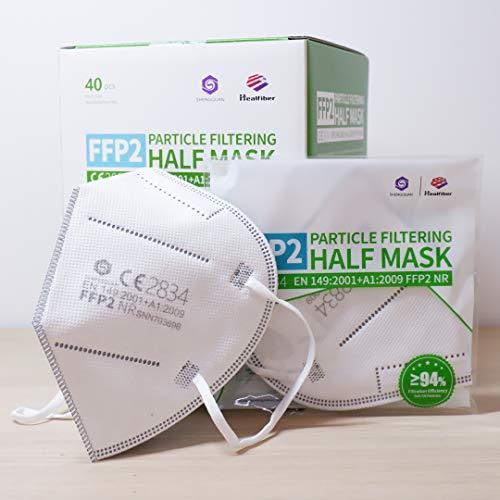 40 Stück - FFP2 Maske, Atemschutzmaske, CE2834