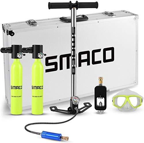 Genrics SMACO Scuba Diving Tank Equipment, Mini Oxygen Tanks for Breathing, 0.5L Mini Portable Dive Oxygen Tank, Pressure & Corrosion Resistant Material with Refillable Design.