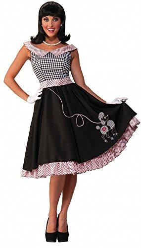 shoperama 50er Jahre Kostüm Rock'n'Roll Babe mit Pudel, Größe:M/L