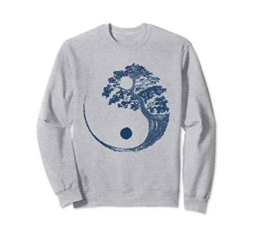 Yin Yang Bonsai Blu Bonsai Tree giapponese buddista Zen Gift Felpa
