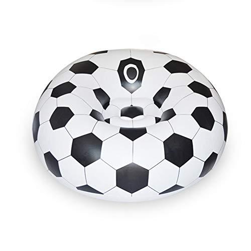 ZW Sofá Inflable, Aire Soccar Fútbol Auto Silla del Bolso de Haba portátil al Aire Libre Jardín Sala de Estar Sofá Muebles Sofá de la Esquina