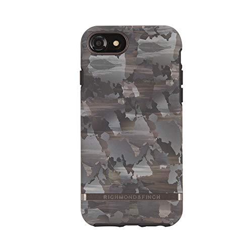RICHMOND & FINCH Diseñada para iPhone 6 / 6s / 7/8 / SE2 Funda, Camuflaje Funda con Detalles Negros for iPhone SE2