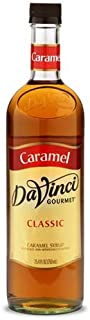 DaVinci Gourmet Classic Coffee Syrup, Caramel, 25.4 Fluid Ounce (Pack of 4), Flavored Sweetener Syrup for Espresso Drinks, Tea, and Other Beverages, Suited for Home, Café, Restaurant, Coffee Shop