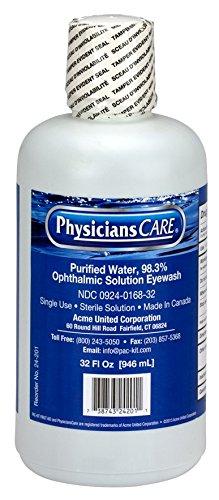 PhysiciansCare 32 oz. Single Bottle Eyewash Station, (24-202)