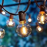Guirlande Lumineuse Extérieur et Intérieur, Guirlande Guinguette 9.5m avec 25+2 Ampoules LED Etanche G40, Ampoules Décoratives pour Jardin, Fête, Patio, Mariage, Noël