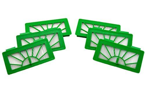 Premium Ersatzteile 6 Hepafilter Allergiefilter geeignet für Vorwerk Saugroboter VR 100 VR100 und NEATO XV11, XV12, XV15, XV21, XV25, XV Signature