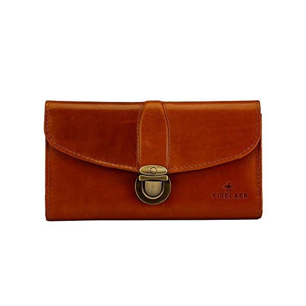 Finelaer Leather Clutch Purse Envelope Card Holder Wallet 1