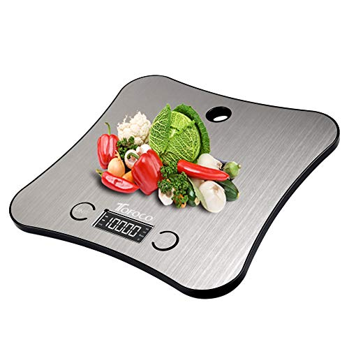 TOFOCO Digitale Küchenwaage Waage Backen Food Scale, 1-5000g/ml Tara Multifunktionswaage Elektronische Waage Küchen Klein Digitalwaage LCD Display