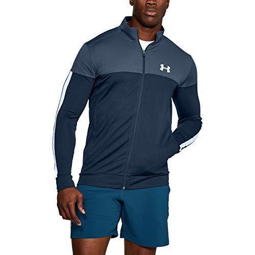 Under Armour Sportstyle Pique Jacket Sudadera, Hombre, Azul, L