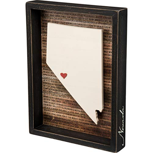 Primitives by Kathy 28238 State Pride Box Sign, Nevada