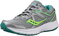 commercial Saucony Cohesion 10 Women's Shoes Gray / Turquoise / Citron 8inch Width saucony womens walking shoes