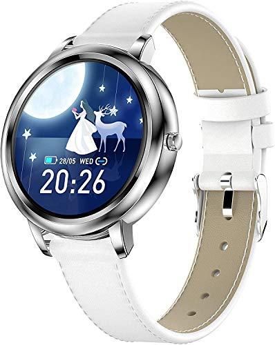 ZHENAO Smart Watch Women Damas Actividad Fitness Tracker Impermeable Hr Ritmo Cardíaco Presión Arterial Monitor de Salud Monitor de Salud Smart Relojes Sleepers Step Counter Pedómetr