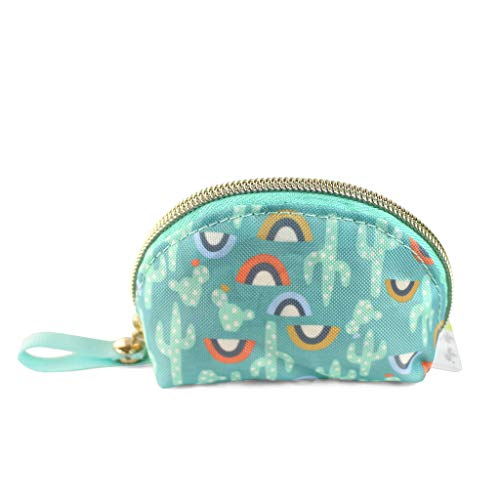 Itzy Ritzy Everything Storage Pouch; Comfortably Holds 2 Pacifiers; Snap Handle Attaches to Diaper Bag, Stroller or Purse; Pouch Can Also Hold Earbuds, Chargers, Change or Disposable Bags; Cactus