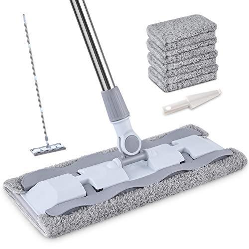 HOMTOYOU Microfiber Dust Mop With Steel Handle